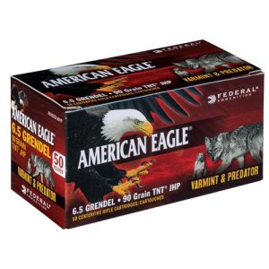Federal American Eagle 6.5 Grendel Ammo 90 Grain TNT Jacketed Hollow Point