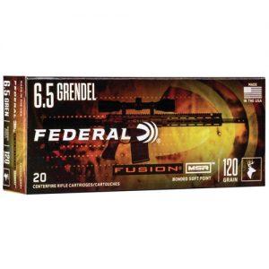 Federal Fusion MSR 6.5 Grendel Ammo 120 Grain Soft Point