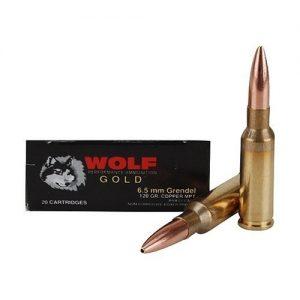Wolf Gold 6.5 Grendel Ammo 120 Grain Multi Purpose Tactical